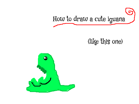 Cute iguana drawing