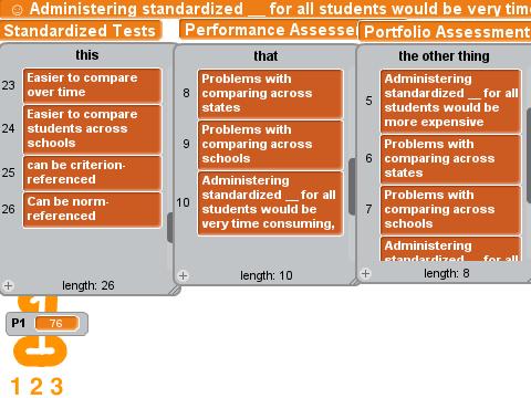 standardized testing portfolio assessment