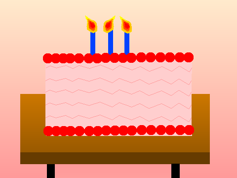Virtual Birthday Cake Including Candles And Music Gynzy