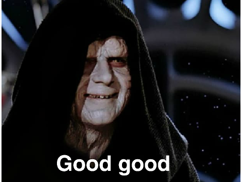 Image result for emperor palpatine good