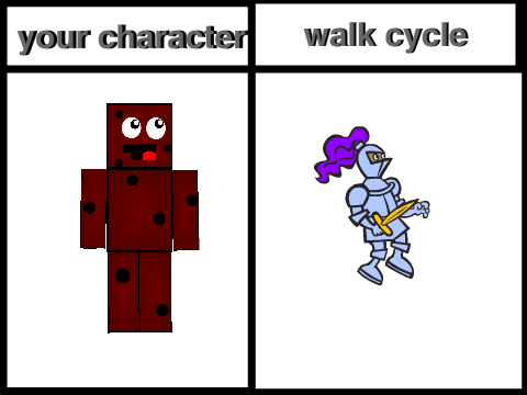 how to make a character walk onn powtoon