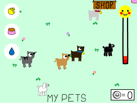 how to make a pet game on scratch