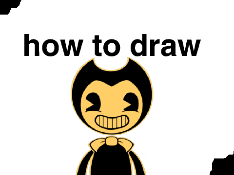 how to draw cartoon bendy! on Scratch