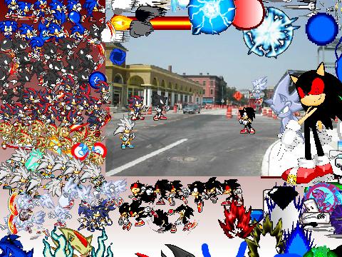 Team Sonic vs Nazo Scene Creator!!! with evil dark sonic ...