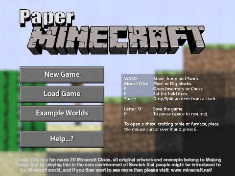 Paper Minecraft v8.8 (2D Minecraft) ben 10 texture pack