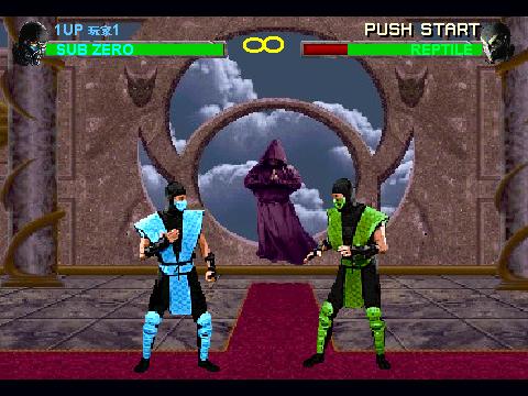 Mortal Kombat 2 Sub-Zero VS Reptile on Scratch