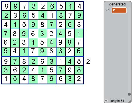 Sudoku Generator! SUPER FAST! on Scratch