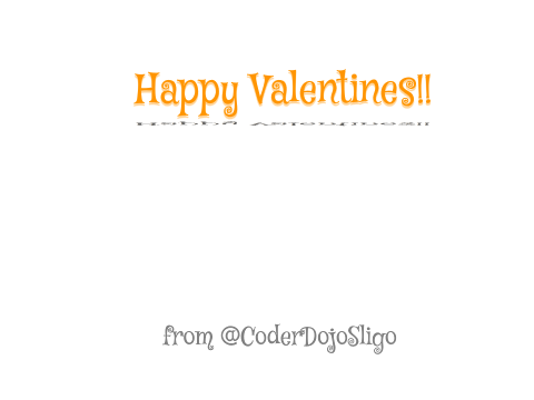 Happy Valentines Day :) on Scratch