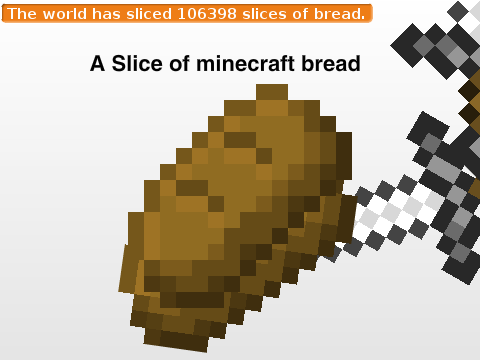 A Slice Of Minecraft Bread On Scratch