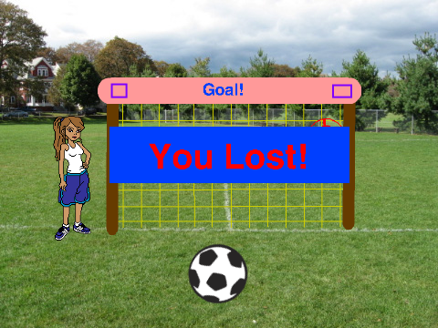 how to make a soccer game on scratch