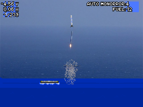 spacex falcon 9 lander now with autopilot