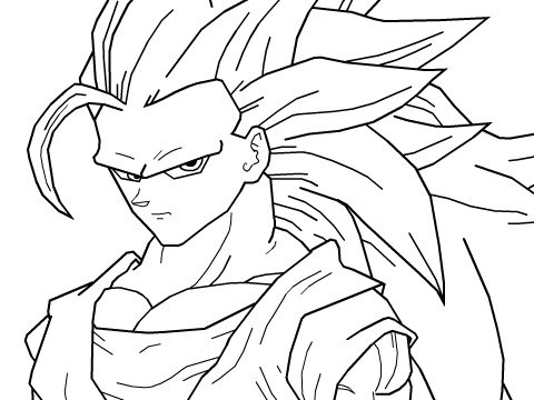 derp drawing goku super saiyan 3 ssj3 remix by zick246
