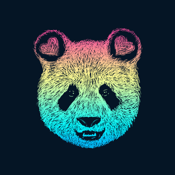 Rainbow Panda Wallpaper - impremedia.net
