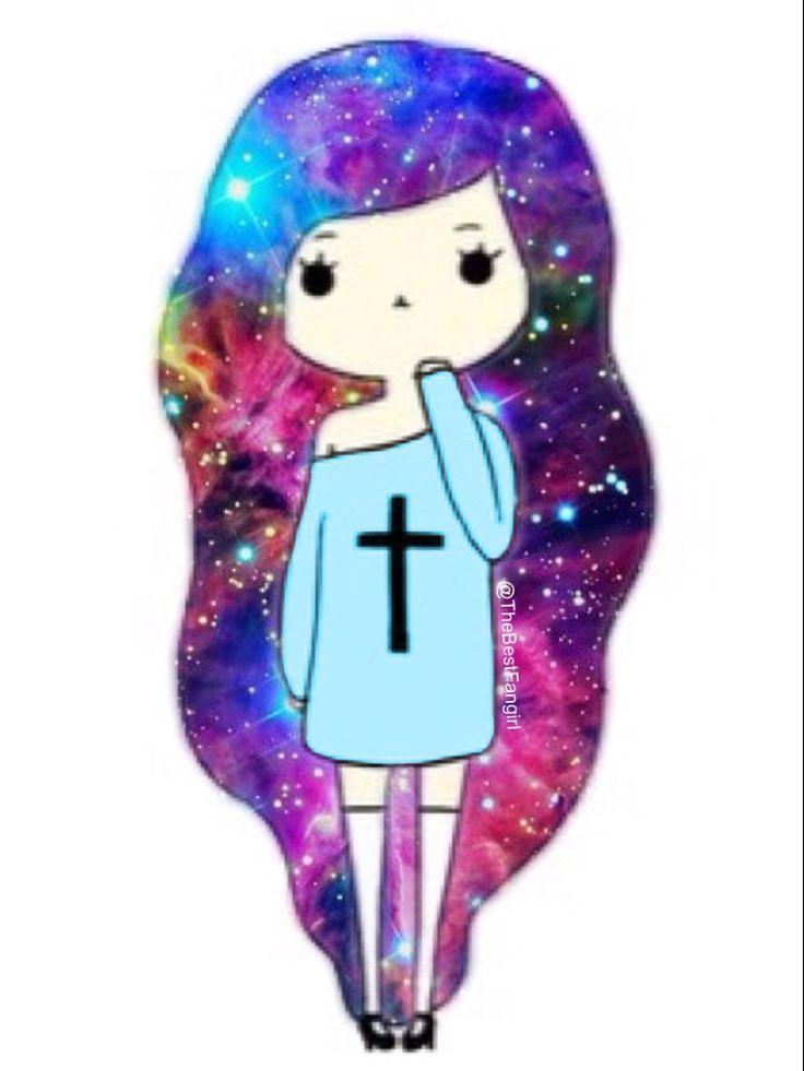 Wallpaper Tumblr Galaxy Girl